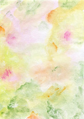 Watercolor hand painted background