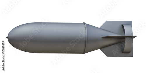 aerial bomb on a white background