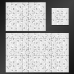 puzzle vector pieces template