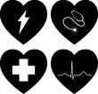 Medizin Herz Symbole