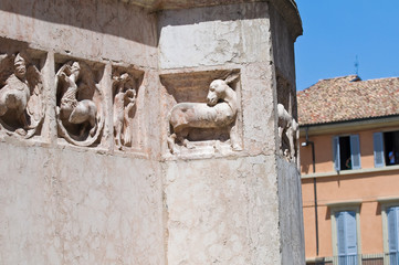 Baptistery of Parma. Emilia-Romagna. Italy.