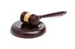 Judge's gavel isolated on white