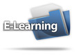 "3D Style Folder Icon ""E-Learning"""