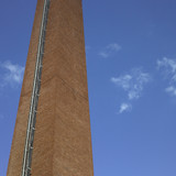 Brick industrial chimney