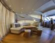 Italy, Fiumicino (Rome), Alfamarine 78 luxury yacht, dinette