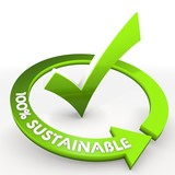 100 percent sustainable ecological environmental check poster
