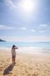 standing on beach