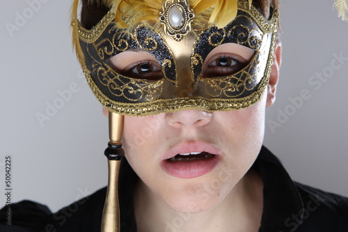 elegant girl with a wonderful mask