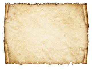 Scroll old paper sheet, Vintage aged old paper