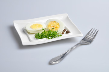eggs and vegetables on a white plate 4