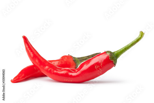 Fresh red pepper on a white background