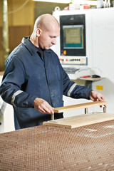 wood furniture worker at workshop