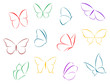Butterflies color silhouettes - 50045453