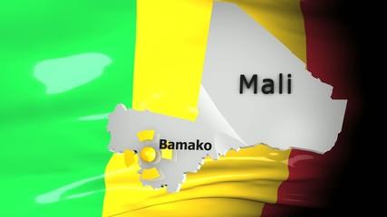 Crisis location map series, Mali.