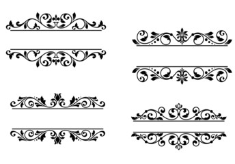Header frame with retro floral elements