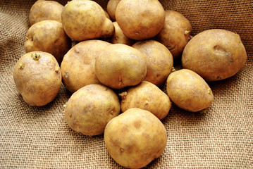 Raw Fresh Whole Potatoes