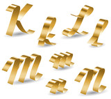 Ribbon alphabet KLMN