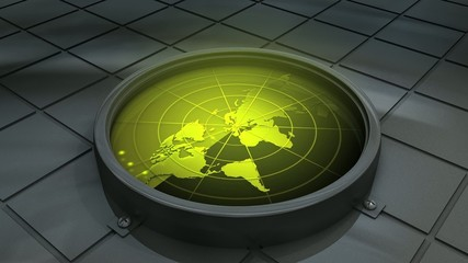 Concept animation, world radar.