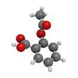 Acetylsalicylic acid (aspirin) pain relief drug molecule, molecu