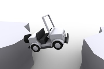 Jumping Jeep Toy - top view