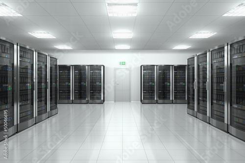 poster of Server room in datacenter