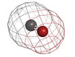 Carbon monoxide (CO), molecular model.