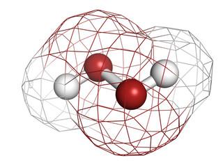 Hydrogen peroxide (H2O2) molecule