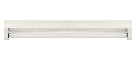 Fluorescent lamp with batten fitting isolated on white backgroun
