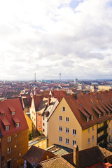 view of Nuremberg roofs. Bavaria, Germany
