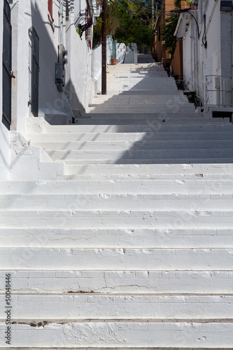 White painted steps Charlotte Amalie Poster