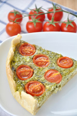 Tomaten Spinat Quiche