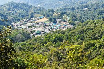"Mountaineer villege ""Mong villege"" in doi pui, chiang mai, thail"