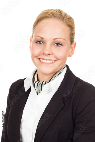 Close-up portrait of air hostess