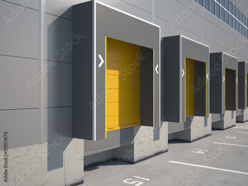 Trucking Loading Dock of Warehouse
