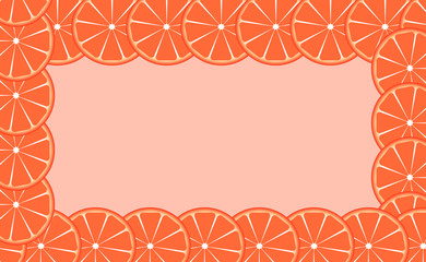 Orange (lime) frame vector illustration