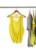 fashion female clothing hanging on hangers