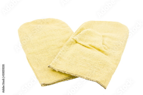 mittens for work on a white background, isolated