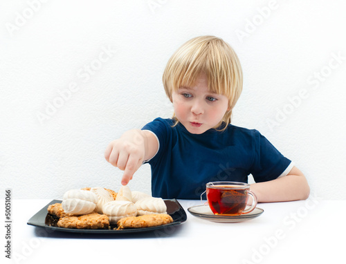 Boy with sweets