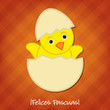 Baby Chick Easter card in vector format.