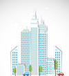 Modern city background. Vector