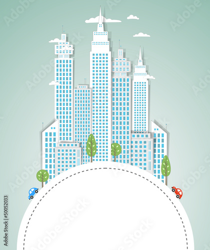 Modern city background. Vector