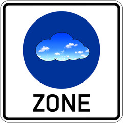 Cloud Compiting, VDI, virtual Desktop, Straßenschild, Zone