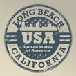 Grunge stamp with name of California, Long Beach, vector