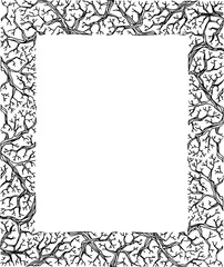Hand drawing nature frame