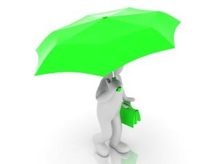 3D people - umbrella