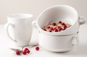 Flakes with cranberries