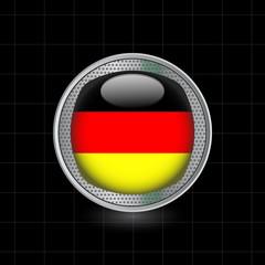 Metallbutton Flagge Deutschland