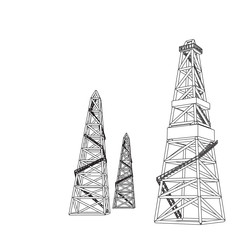 Oil rig backdrop for your text