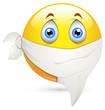 Smiley Vector Illustration - Handkerchief on Face