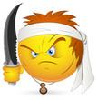 Smiley Vector Illustration - Kung Fu Warrior Face